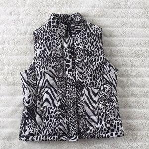 JONES NEW YORK SPORT zebra print vest